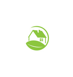 nature-friendly home a green eco house with a vector image
