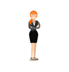 office people concept in flat vector image