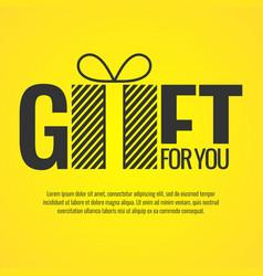 Original concept poster gift vector