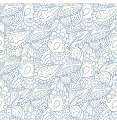 Pastel seamless pattern with hand drawn elements vector