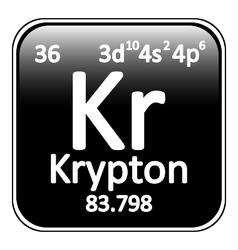 Periodic table element krypton icon vector image vector image