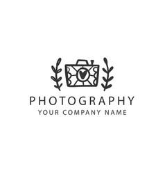 photography logo badge photo studio emblem vector image