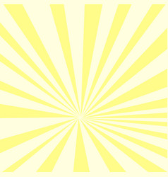 pop art background yellow sun rays on an orange vector image