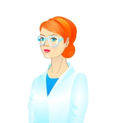 Portrait of a female scientist vector image