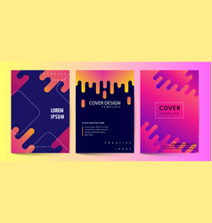 printed cover template with abstract colorful vector image