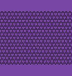 purple heart shape pattern vector image