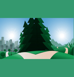 road and city or country destination vector image