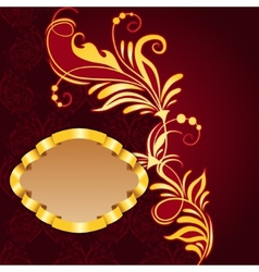 Royal frame with floral pattern vector