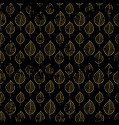 Seamless autumn pattern on a dark background vector