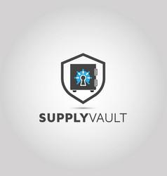 Security vault logo technology vault lo vector