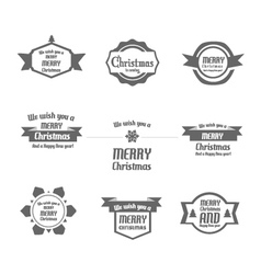 Set of Christmas vintages for Christmas vector image