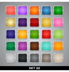 Set Of Colorful App Icon Templates Frames vector image