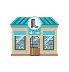 Shoe Shop Commercial Building Facade Design vector