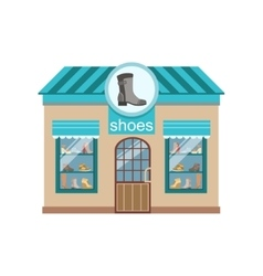 Shoe Shop Commercial Building Facade Design vector image