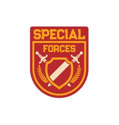 Special forces division chevron elite squadron vector