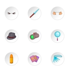Spying icons set cartoon style vector image