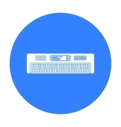 Synthesizer icon in black style isolated on white vector image