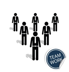 teamwork people icon vector image