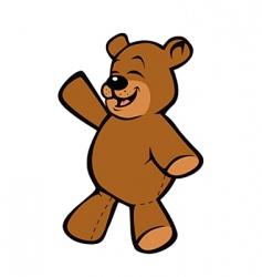 Teddy bear happy vector