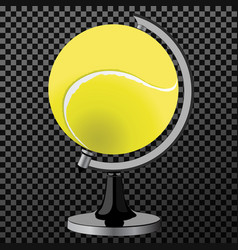 Tennis ball tennis ball globe world game vector
