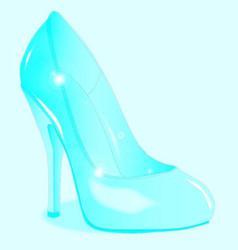The glass slipper vector