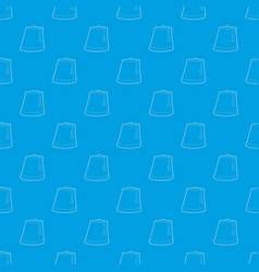 Turkish hat pattern seamless blue vector