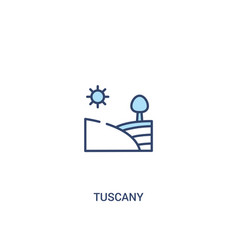 Tuscany concept 2 colored icon simple line vector