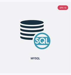 two color mysql icon from programming concept vector image