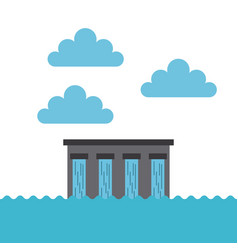 Water dam icon vector