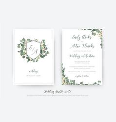 Wedding double invite invitation save date vector