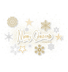 white christmas background with ornaments vector image