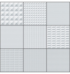 Abstract white and grey rectangle geometric bricks vector image vector image