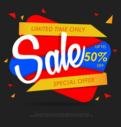 sale banners design template vector image vector image