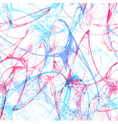 abstract ink lines seamless pattern vector image