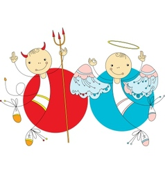 Angels and Demons vector image