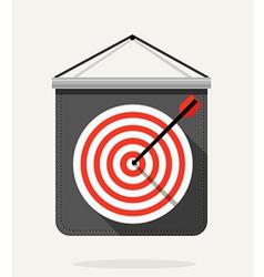 Dart with dartboard Flat design vector image vector image