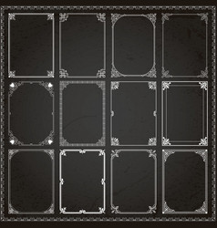Decorative frames and borders rectangle 6 vector