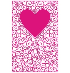Love cards vertical vector image vector image