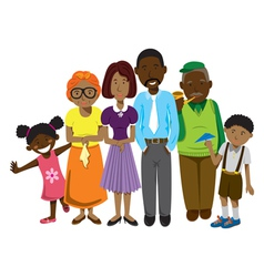 african family vector image vector image