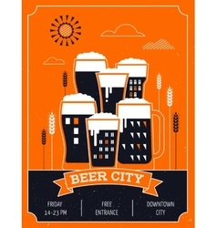 Beer festival in the city event poster vector image vector image