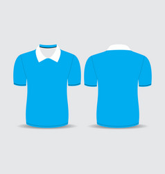 blue polo t shirt vector image vector image