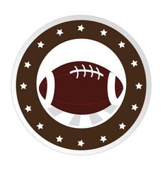 circular border with football ball and decorative vector image vector image