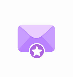 email favourite mail star icon vector image vector image