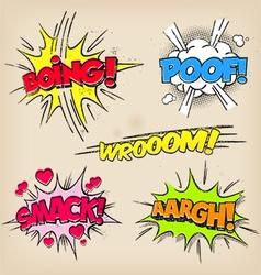 Grunge Comic Sounds set vector image vector image