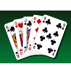 Poker hand - Straight vector image