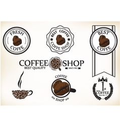 Set of vintage retro coffee shop badges and labels vector image