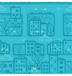 City streets seamless pattern background vector image