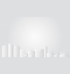 cityscape with stars paper art style vector image vector image