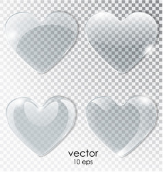 heart of glass plate with a transparent background vector image vector image