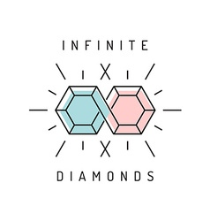 Jewelry logo template vector image